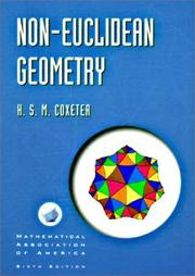 Cover of: Non-Euclidean geometry by H. S. M. Coxeter