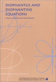 Cover of: Diophantus and diophantine equations