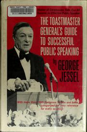 Cover of: The toastmaster general's guide to successful public speaking