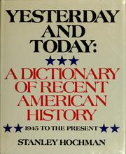 Cover of: Yesterday and today