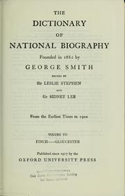 Cover of: The Dictionary of national biography