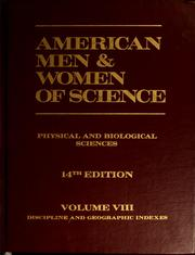 Cover of: American men & women of science | edited by the Jaques Cattell Press
