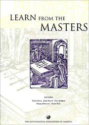 Cover of: Learn from the masters!