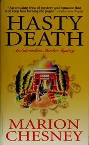 Cover of: Hasty death
