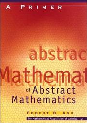 Cover of: A primer of abstract mathematics
