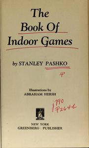 Cover of: The book of indoor games