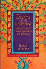 Cover of: Dreams of an insomniac by Irena Klepfisz