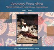 Cover of: Geometry from Africa (Classroom Resource Materials)