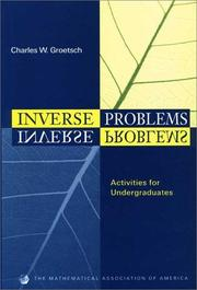 Cover of: Inverse problems | C. W. Groetsch