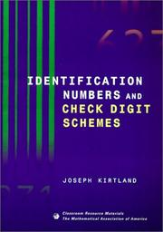 Identification Numbers and Check Digit Schemes (Classroom Resource Materials) by Joseph Kirtland