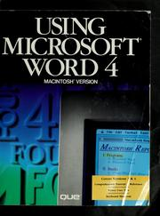 Cover of: Using Microsoft Word 4.