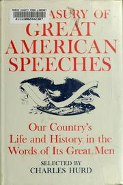 Cover of: A treasury of great American speeches