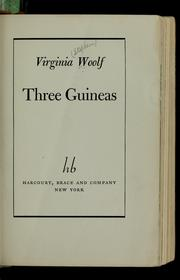 Cover of: Three guineas | Virginia Woolf