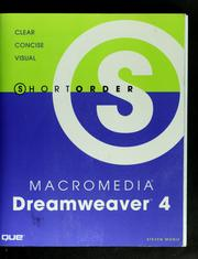 Cover of: Short Order Macromedia Dreamweaver 4