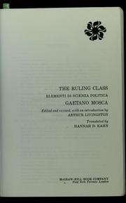 Cover of: The ruling class