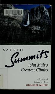 Cover of: Sacred summits
