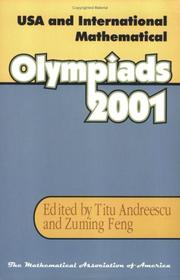 Cover of: USA and International Mathematical Olympiads, 2001