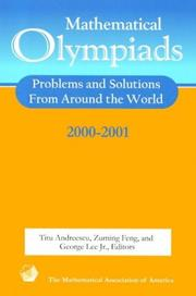 Cover of: Mathematical olympiads 2000-2001