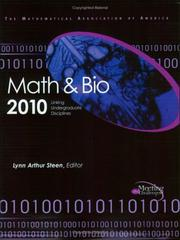 Cover of: Math & Bio 2010