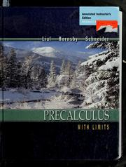 Cover of: Precalculus with Limits