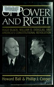 Cover of: Of power and right