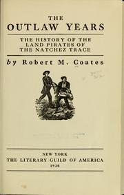 Cover of: The outlaw years