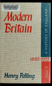 Cover of: Modern Britain, 1885-1955
