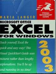 Cover of: Microsoft Office Excel 2003 for Windows