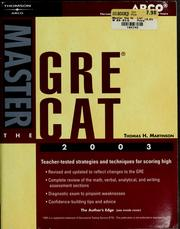 Cover of: Master the GRE CAT 2003
