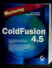 Cover of: Mastering ColdFusion 4.5