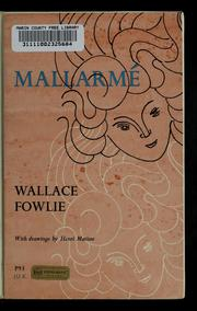 Cover of: Mallarmé | Wallace Fowlie