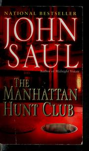 Cover of: The Manhattan Hunt Club