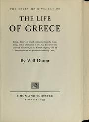 Cover of: The life of Greece