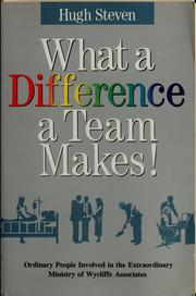 Cover of: What a difference a team makes!