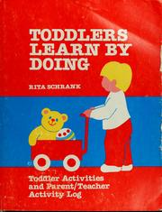 Cover of: Toddlers learn by doing