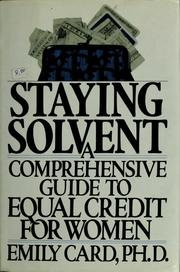 Cover of: Staying solvent | Emily Card