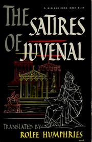 Cover of: Satires of Juvenal
