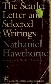 Cover of: The scarlet letter, and selected writings