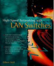 Cover of: High speed networking with LAN switches