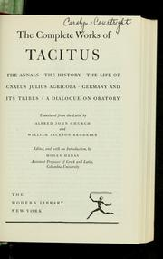 Cover of: The complete works of Tacitus | P. Cornelius Tacitus