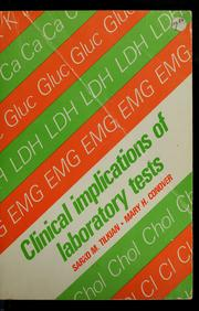 Cover of: Clinical implications of laboratory tests