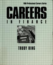 Cover of: Careers in finance