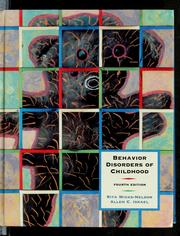 Behavior disorders of childhood by Rita Wicks-Nelson