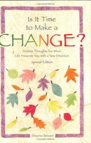 Cover of: Is it time to make a change?