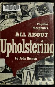 Cover of: All about upholstering