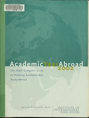 Cover of: Academic year abroad 2002 | Marie O