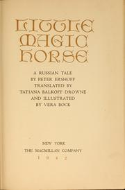 Cover of: Little magic horse | P. P. Ershov