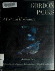 Cover of: A poet and his camera