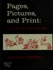 Cover of: Pages, pictures, and print | Joanna Foster