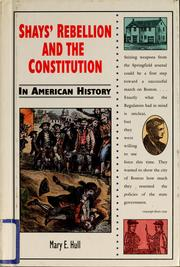 Cover of: Shays' Rebellion and the Constitution in American history